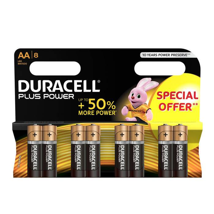 Duracell Plus Power B8