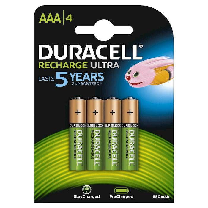 Duracell Batterie Ricaricabili StayCharged Ministilo AAA x4pz