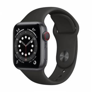 Apple Watch Series 6 GPS+Cellular 40mm in alluminio grigio siderale - Sport Nero