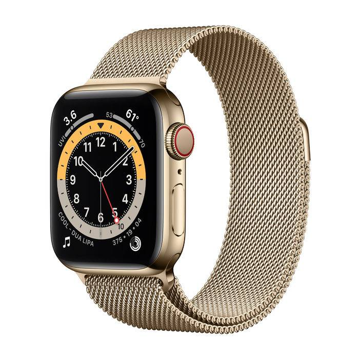 Apple Watch Series 6 GPS+Cellular 40mm in acciaio oro - Loop Maglia Milanese