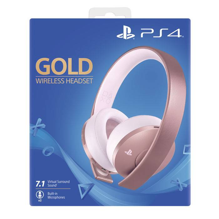 sony gold wireless headset – rose gold edition