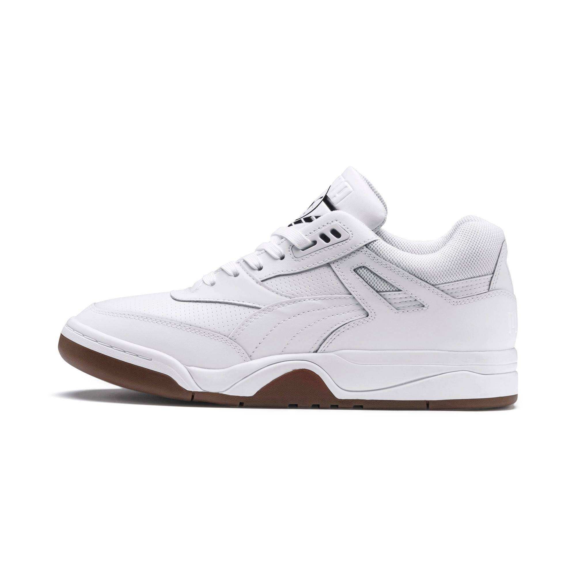 PUMA Palace Guard Men's Basketball Trainers, Bianco, Taglia 46