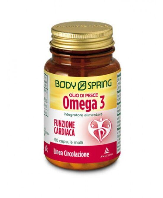 Angelini Spa Body Spring Olio Di Pesce Omega3 Funzione Cardiaca Integratore Alimentare 2x50 Capsule
