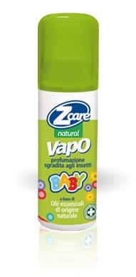 bouty spa zcare natural vapo baby - insettorepellente antizanzare bambini flacone con vaporizzatore da 100 ml
