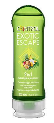 Artsana Spa Control Gel 2in1 Massage & Pleasure Flacone Da 200 Ml, Gusto Exotic Escape