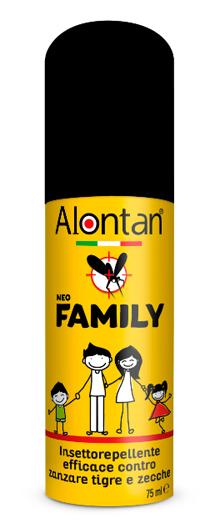 Pietrasanta Pharma Spa Alontan Family Insettorepellente - Barriera Multi-Insetto Flacone Spray Da 75 Ml