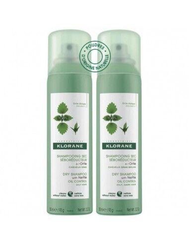 Klorane (Pierre Fabre It. Spa) Klorane Shampoo Secco Ortica Duo Pack 2x150 Ml