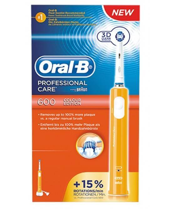 procter & gamble srl oralb spazzolino elettrico pc 600 crossaction arancio