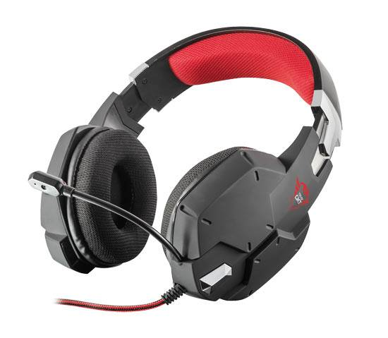 nd trust gxt 322 carus gaming headset per pc e console nere