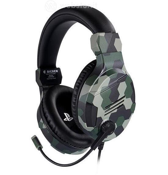 ps4 headset sony v3 vert verde camo