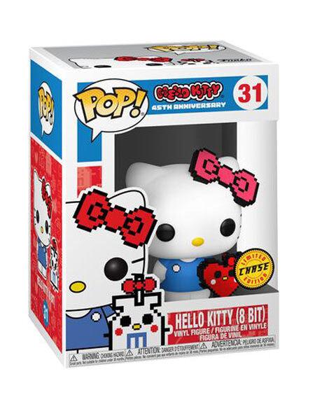 Funko Funko Pop! CHASE - Hello Kitty 8-Bit con Cuore (45^ Anniversario)
