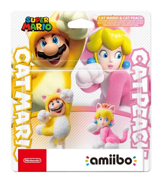 Nintendo Amiibo Cat Mario & Cat Peach (Super Mario)