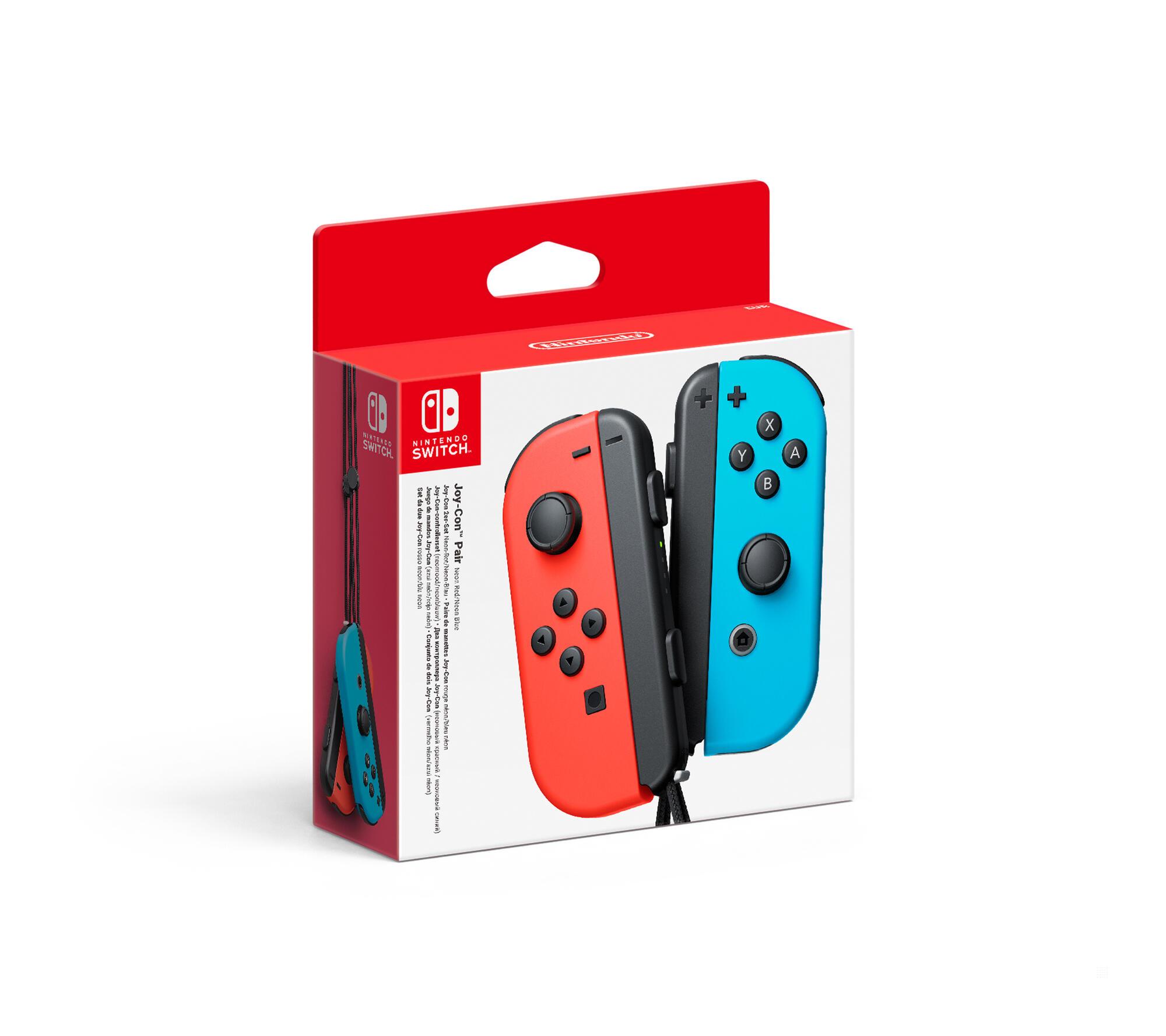nintendo joy-con controller neon blu/neon rosso switch