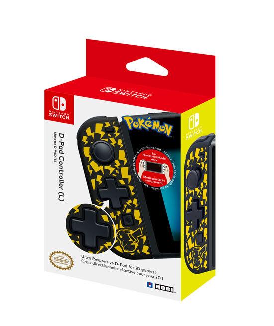 hori controller nintendo switch d-pad pikachu