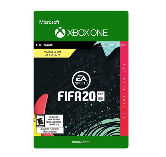 xboxone fifa 20 ultimate edition