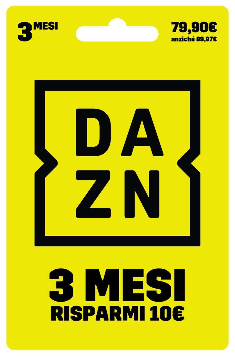 Digital Carta prepagata DAZN 3 Mesi a 79.90€