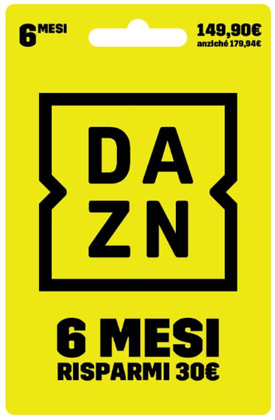 Digital Carta prepagata DAZN 6 Mesi