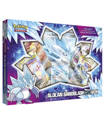 game vision carte pokémon alolan sandslash gx box