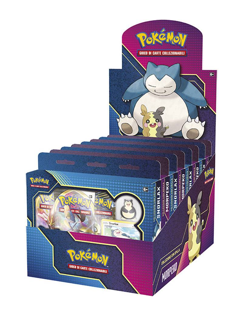 Game Vision Carte Pokémon Snorlax / Morpeko Collezione con Spilla (Assortito)