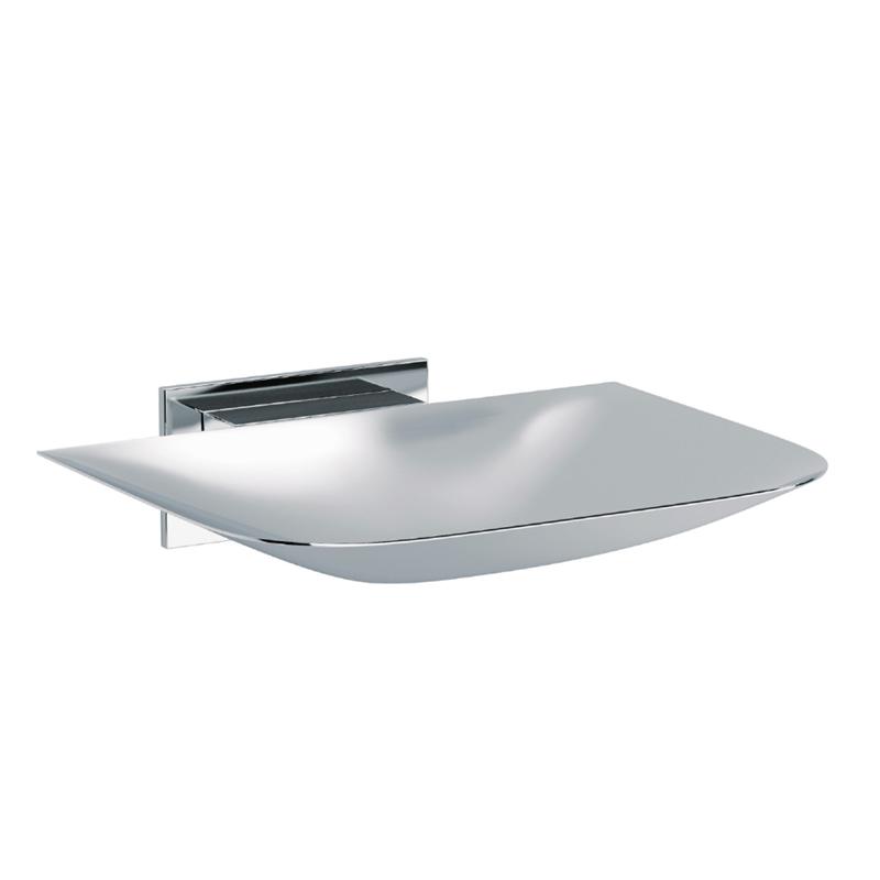 Baño Diseño Porta sapone da parete adesivo cromato Point