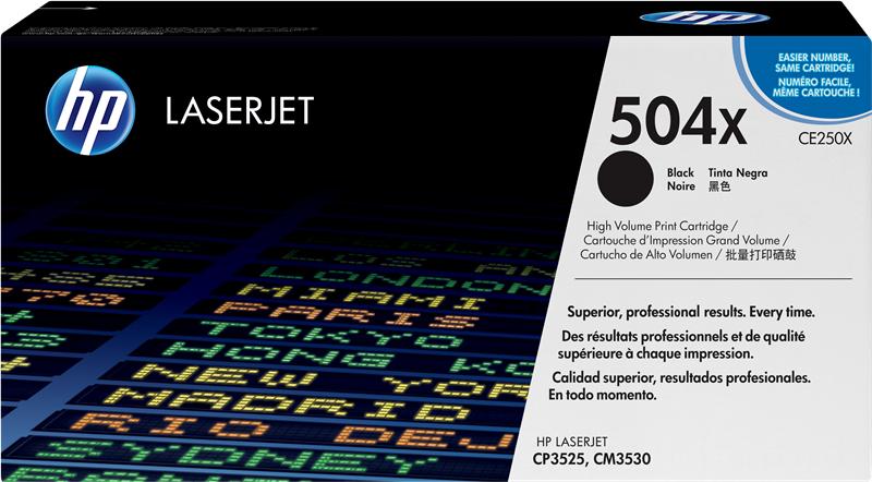 HP CE250X 504X Toner stampanti HP Color LaserJet CP3525 n dn x CM3530 mfp cm fs