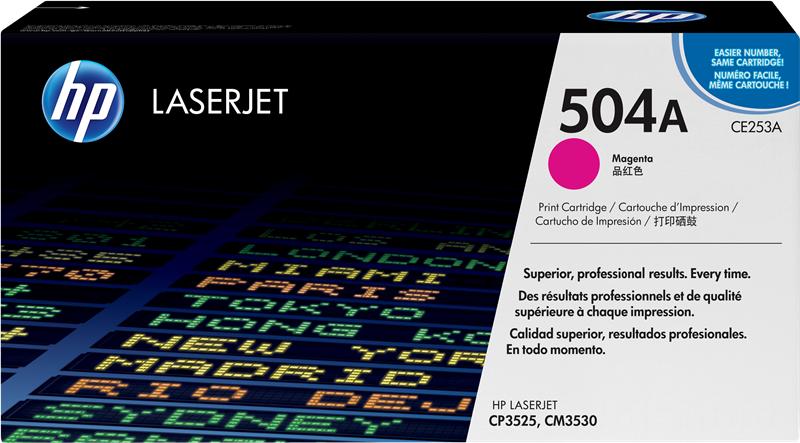 HP CE253A 504A Toner stampanti HP Color LaserJet CP3525 n dn x CM3530 mfp cm fs