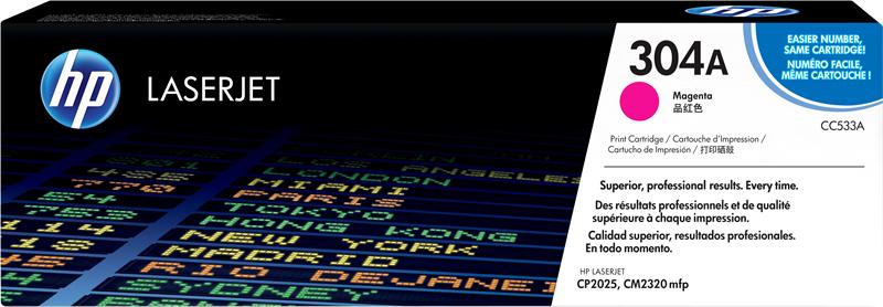 HP CC533A 304A Toner stampanti HP Color LaserJet CM2320 CM2320fxi CM2320nf CP2020 CP2025 CP2025dn CP2025n CP2025x