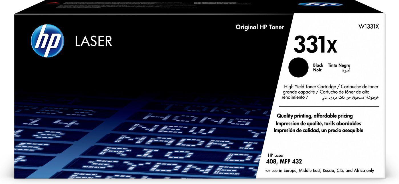 HP W1331X 331X HP CARTUCCIA TONER NERO copertura 15.000 pagine stampanti HP Laser 408dn MFP 432fdn