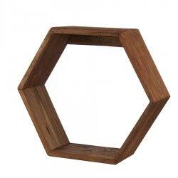 l'oca nera mensola esagonale in legno riciclato