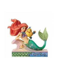 Disney Statuina Ariel con Flounder Traditions