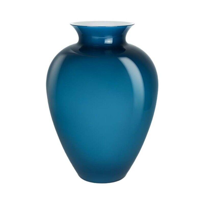 Venini vaso Labuan medio Ø27,5cm orizzonte e lattimo in vetro di Murano