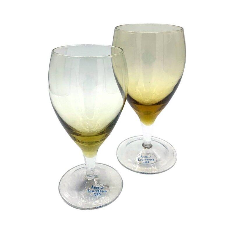 Andrea Fontebasso Set 6 bicchieri acqua + 6 bicchieri vino Barbara ambra