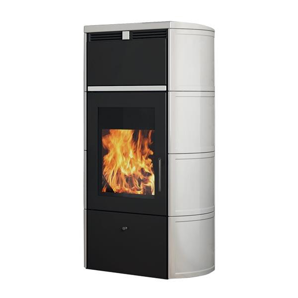 edilkamin termostufa a legna stufa idro kw 24 flamma cs vaso chiuso a+ ceramica vari colori