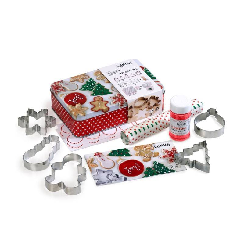 Lekue Christmas Cookies Kit Grey