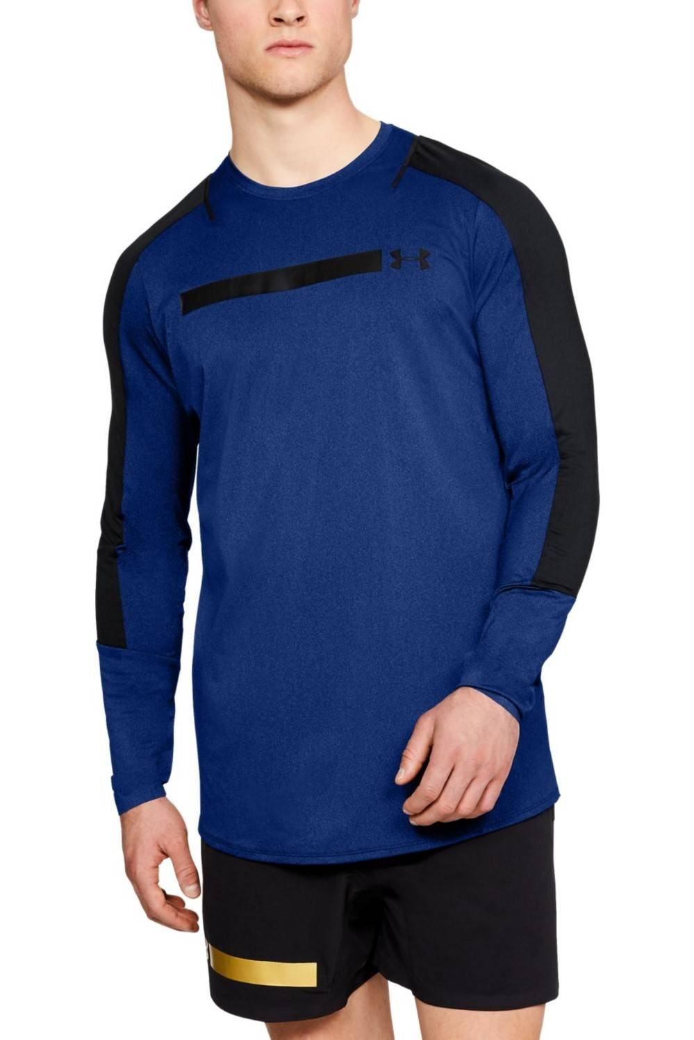 Under Armour T-shirt da uomo Under Armour blu scuro Perpetl Fitted LS - XL