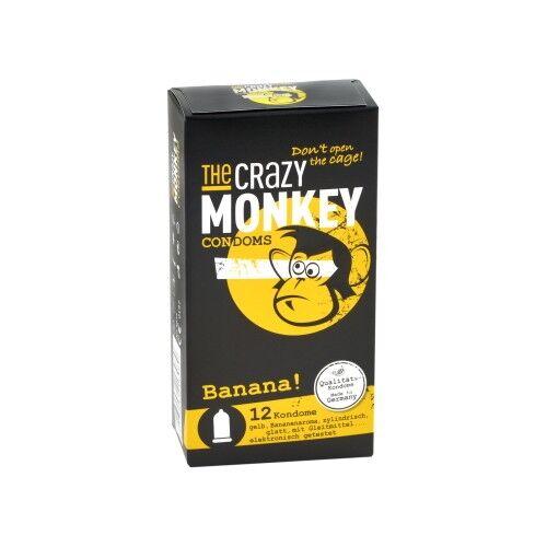 C.P.R. Preservativi THE CRAZY MONKEY Banana, 12 preservativi