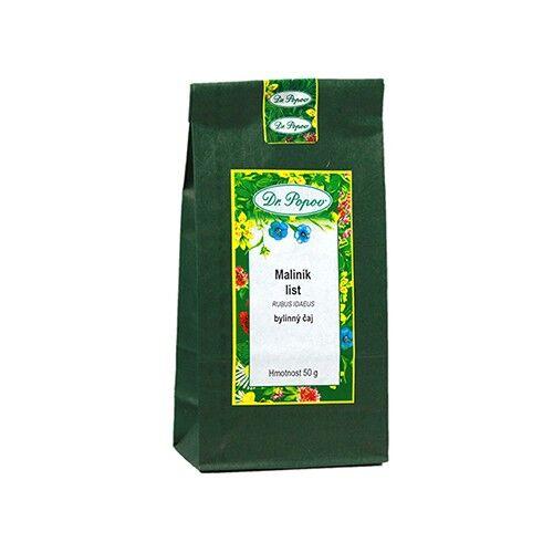dr. popov tè ai fogli di lampone, 50 g