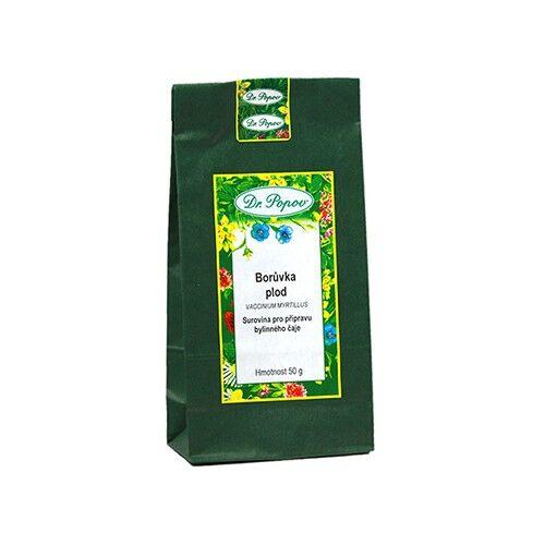 dr. popov mirtillo nero, frutti essiccati, tè, 50 g
