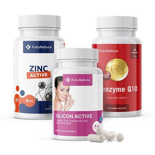 FutuNatura Fonte di minerali: Zinco + Silicio + Coenzima Q10, kit