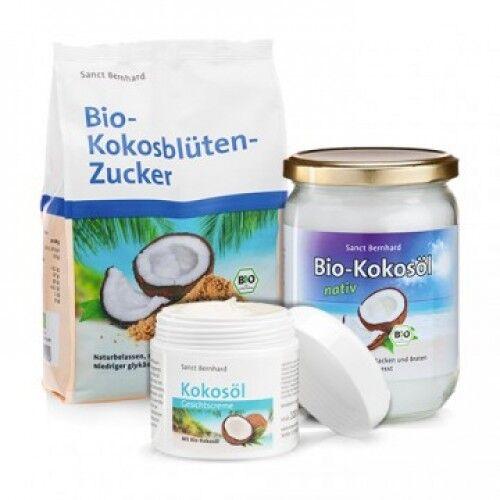 sanct bernhard cocco dolce: zucchero di cocco + olio di cocco + crema per il viso al cocco, kit