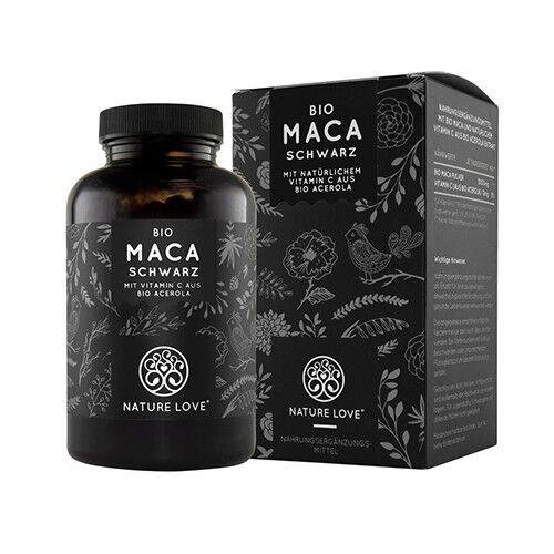 nature love bio maca nera, 180 capsule