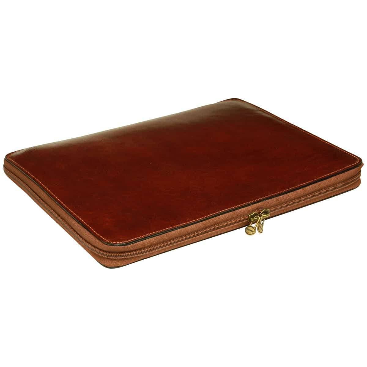 Cowhide leather portfolio - Brown