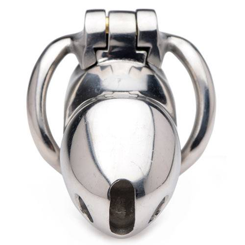 XRBRANDS Gabbia di castita' rikers 24-7 stainless locking cage