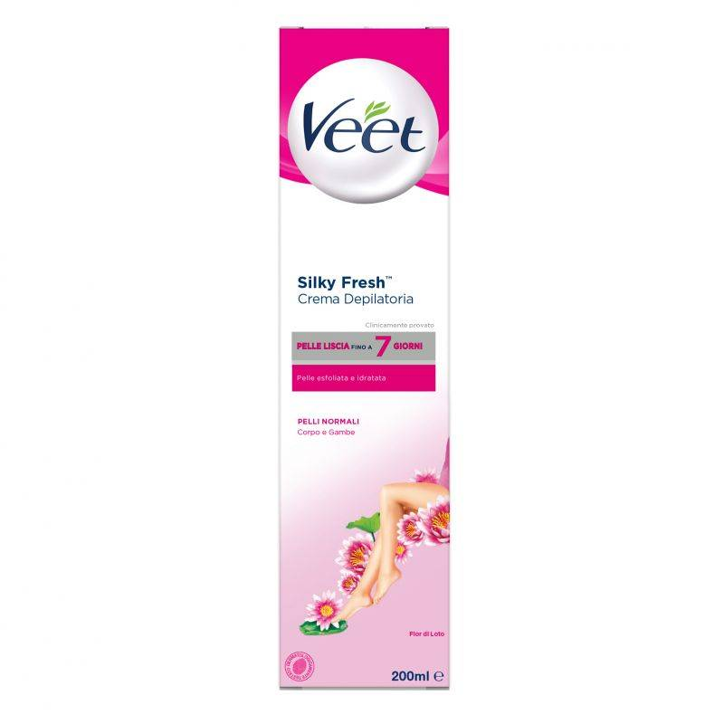 Veet crema depilatoria silk & fresh pelli normali 200 ml