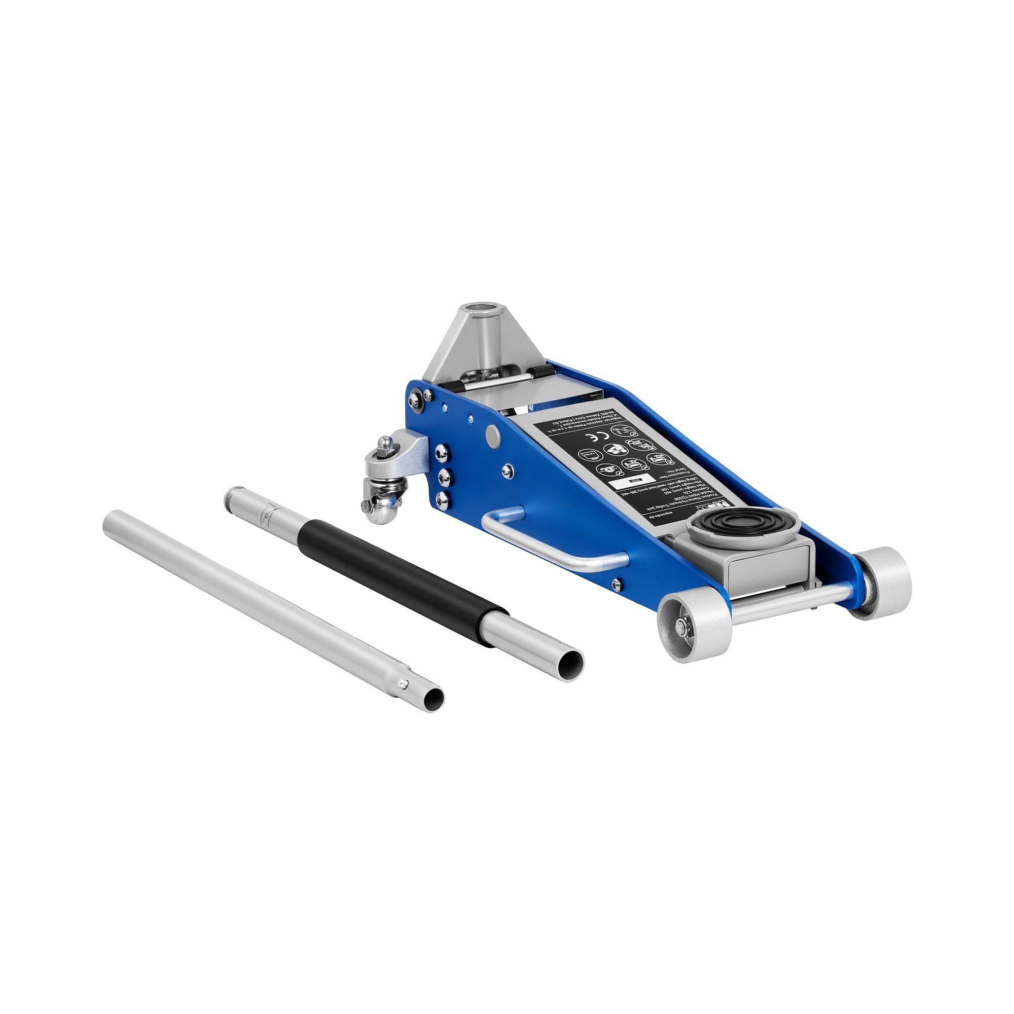 msw cric auto idraulico a carrello - 2.500 kg - da 100 a 465 mm -tj2500