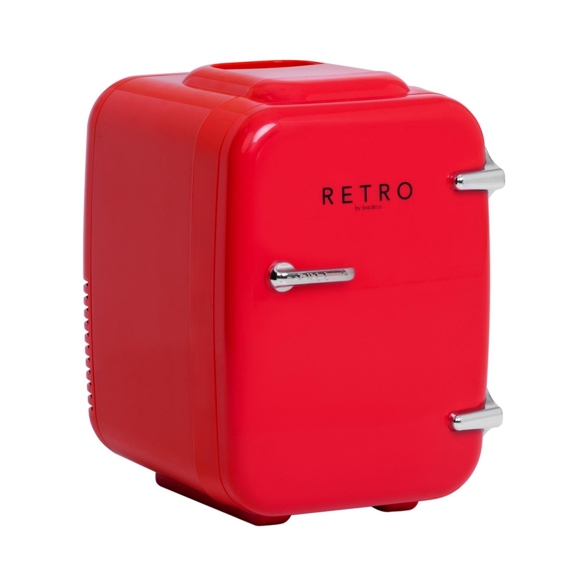 bredeco Mini frigo portatile elettrico - 4 L - rosso BCMF-4L-S
