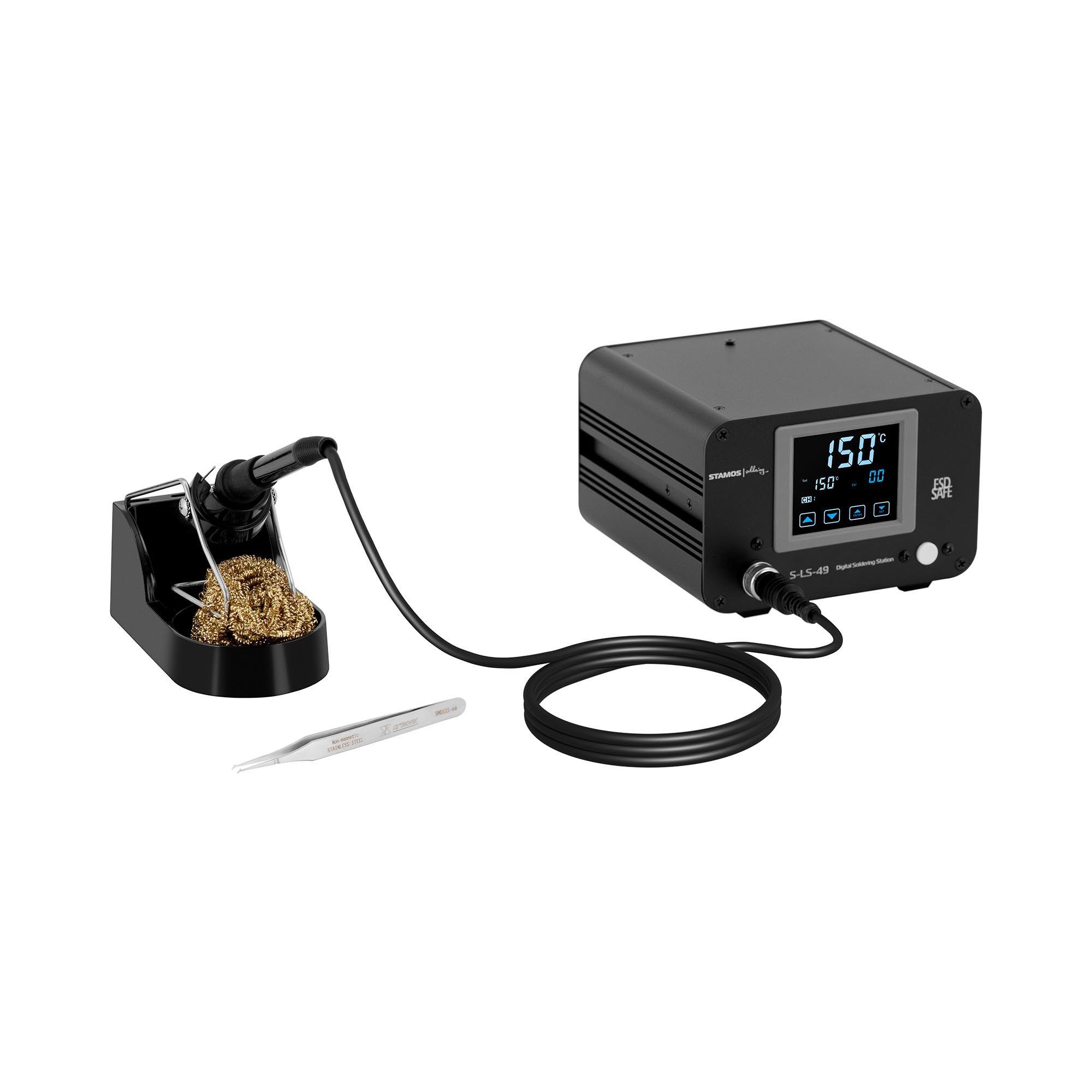 stamos soldering stazione saldante - digitale - 100 w - lcd-touch s-ls-49