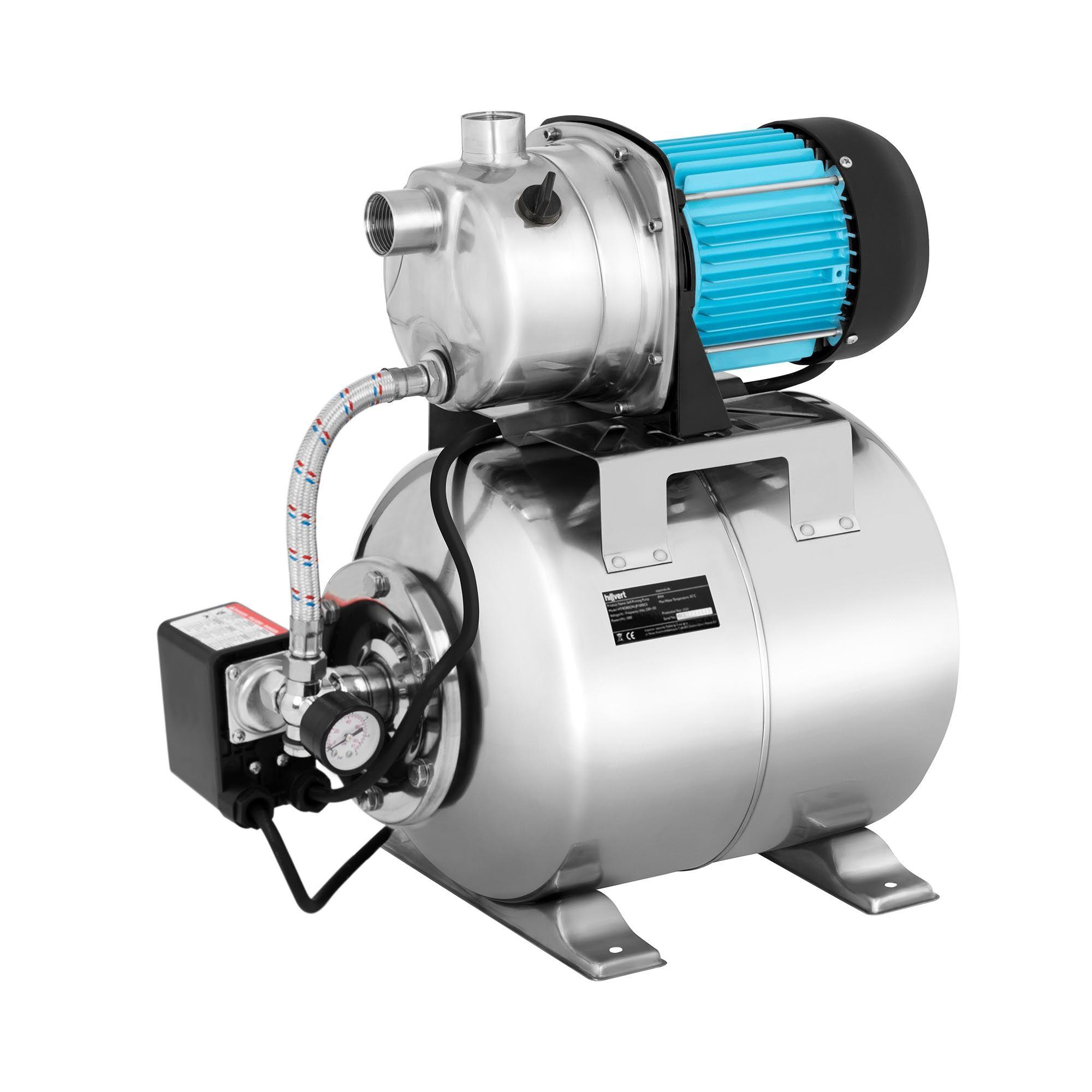 hillvert pompa autoadescante - 3.100 l/h - 1.000 w - acciaio inox ht-robson-jp1000cs