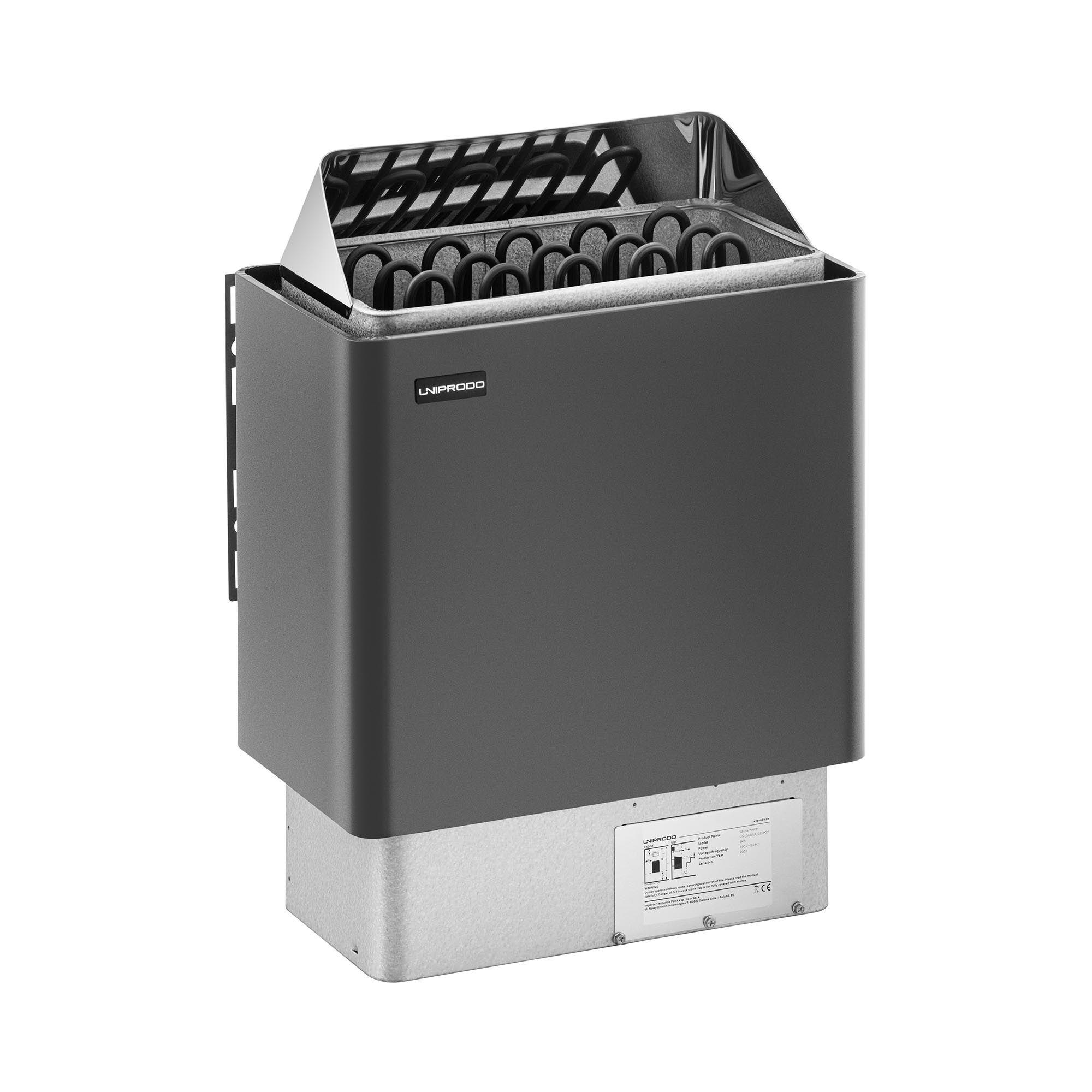 Uniprodo Stufa elettrica per sauna - 8 kW - da 30 a 110 °C UNI_SAUNA_G8.0KW