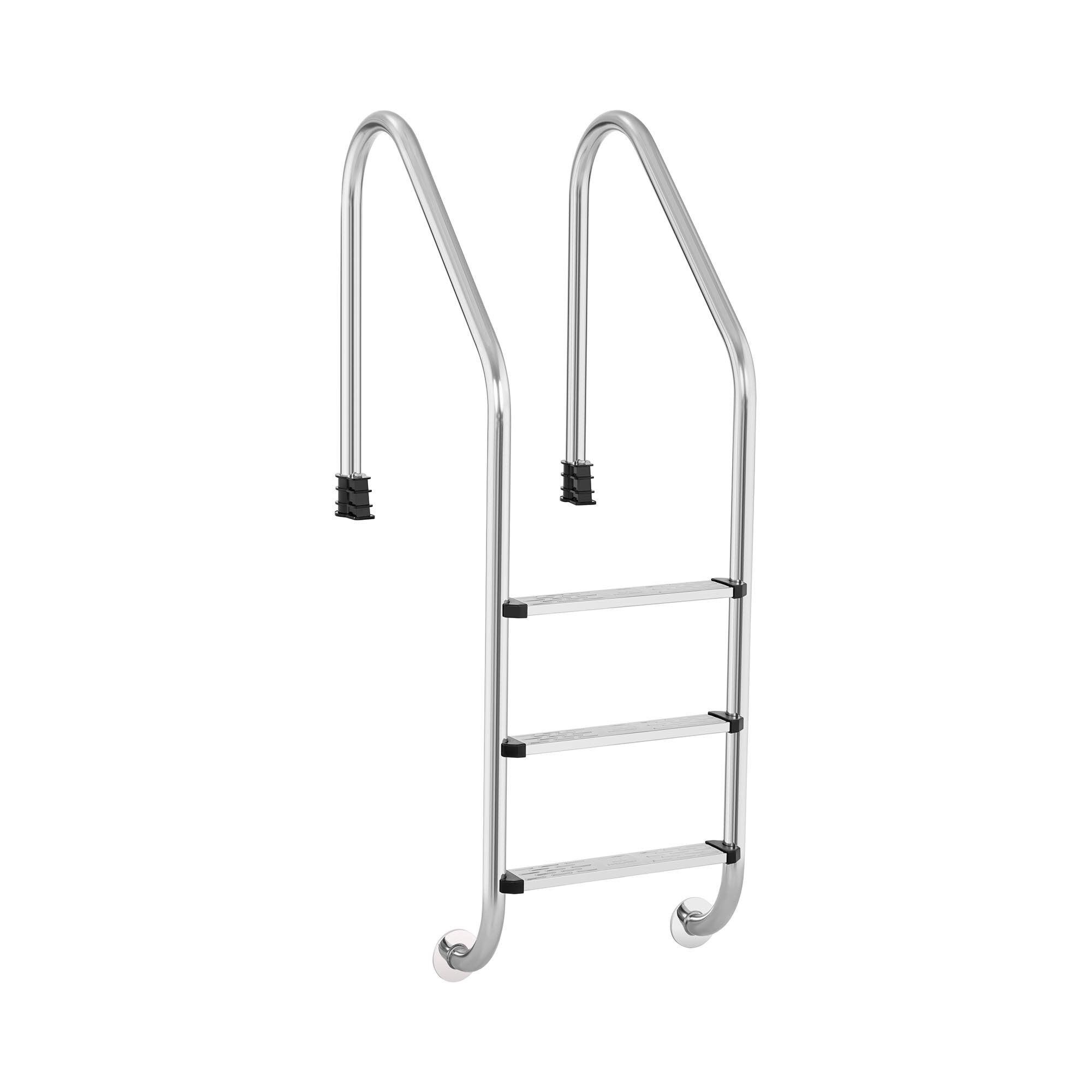 Uniprodo Scaletta per piscina - 3 gradini - arco ampio UNI_LADDER_V01